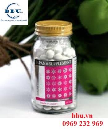 Viên uống trắng da trị nám Sakura L-Cystine Collagen C từ Nhật Bản