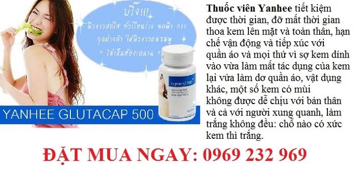 Viên uống trắng da Glutacap 500 Yanhee Thái Lan