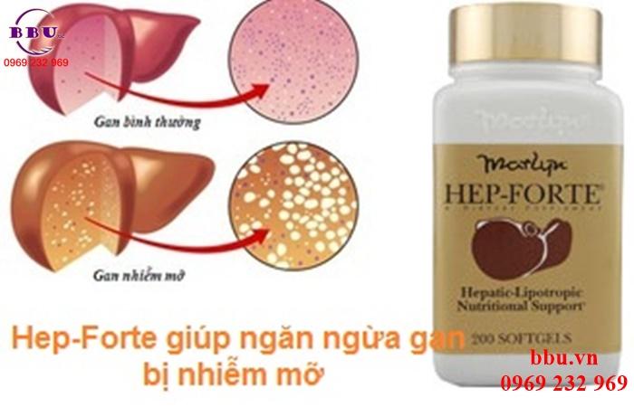 Viên Uống Bổ Gan Hep Forte của Mỹ - Giúp thải độc gan, hỗ trợ chức năng gan