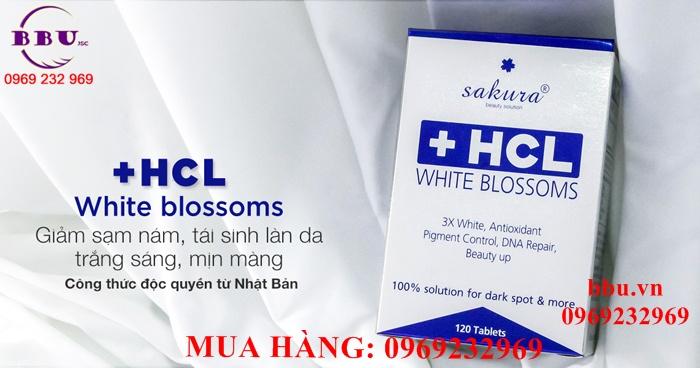 Viên uống làm trắng da, trị nám Sakura HCL White Blossom