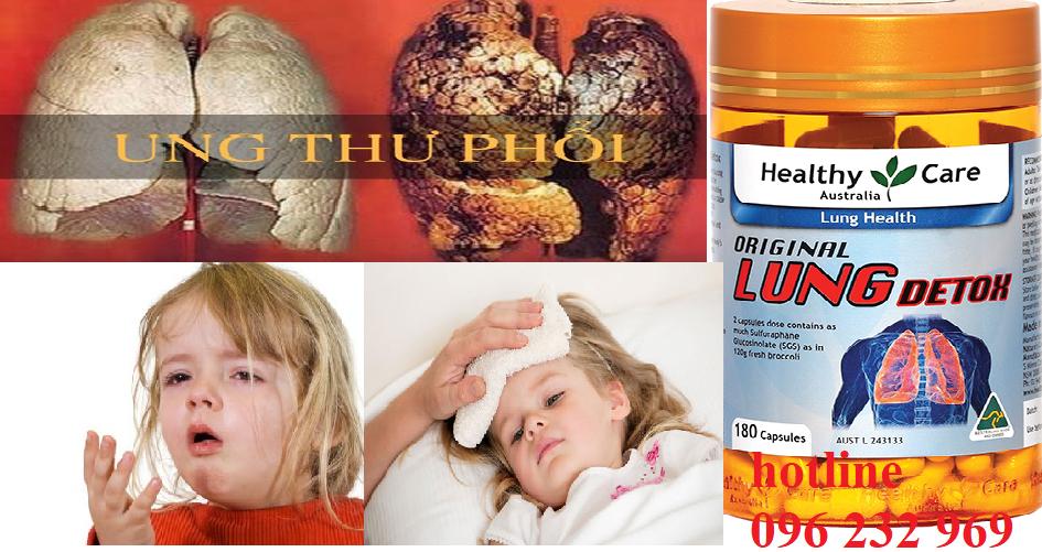Giải độc phổi với Healthycare Original Lung detox