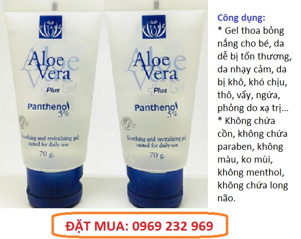 Gel thoa bỏng Vitara Aloe Vera Gel Plus Panthenol