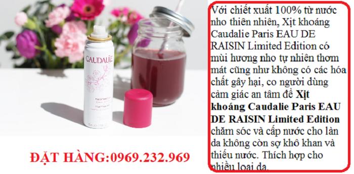 Xịt khoáng Caudalie Paris EAU DE RAISIN Limited Edition
