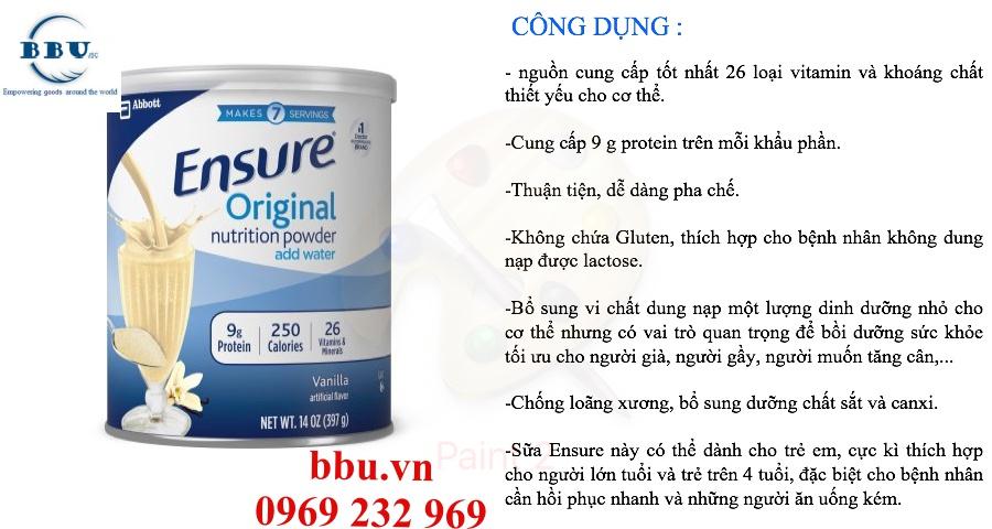 Phân phối sỉ sữa ensure của mỹ rẻ nhất thị trường