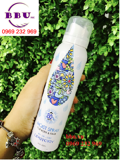 Review Xịt khoáng chống nắng Moist Spray Lipstory 80% for body & Face
