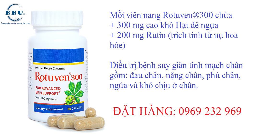 Tin đồn thuốc Rotuven điều trị suy giãn tĩnh mạch hiệu quả