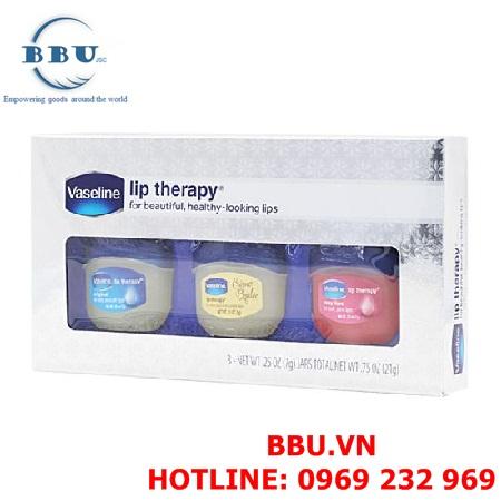 Bộ 3 son dưỡng môi Vaseline Lip Therapy