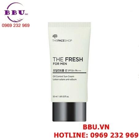 Kem chống nắng kiểm soát nhờn The Fresh For Men Oil Absorbing Sun Cream SPF50+ PA+++