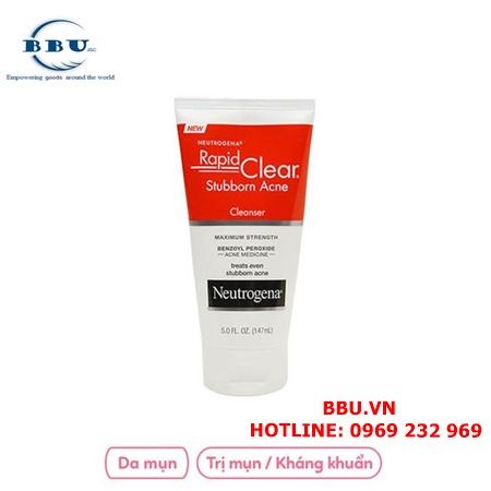 Sữa Rửa Mặt Trị Mụn Neutrogena Rapid Clear Stubborn Acne