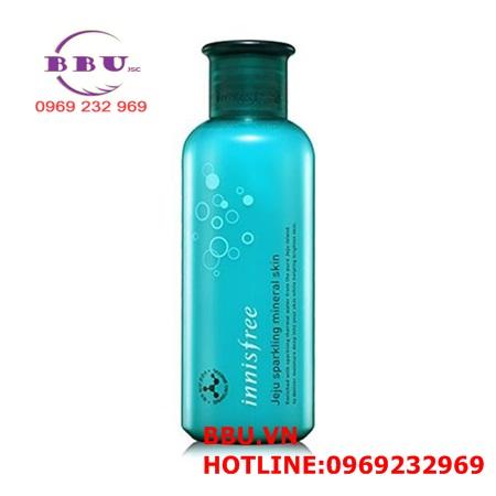 Nước hoa hồng Innisfree Jeju Sparkling Mineral Skin