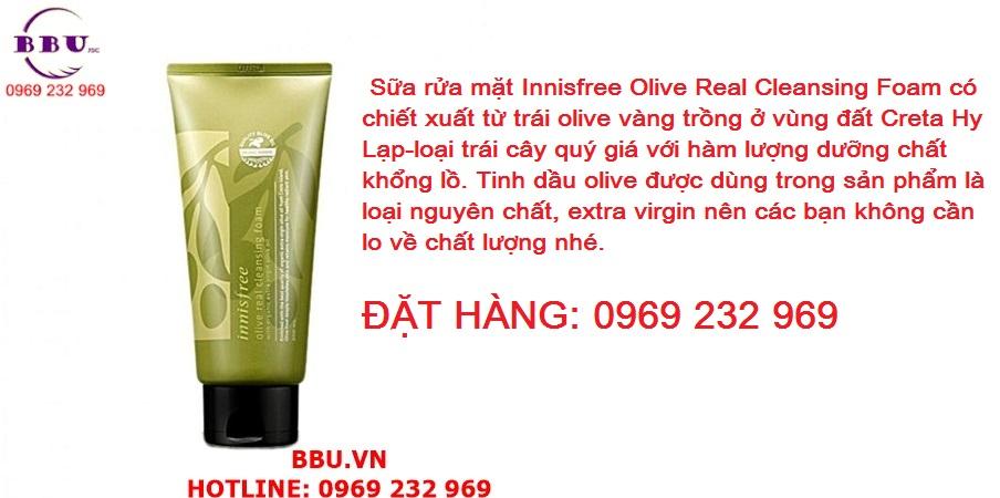 Sữa rửa mặt Innisfree Olive Real Cleansing Foam