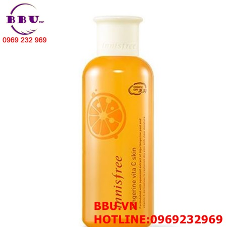 Nước hoa hồng dưỡng trắng - giảm thâm nám Innisfree Tangerine Vita C Skin