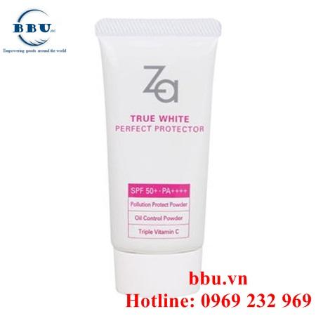 Kem chống nắng dưỡng trắng Za True White Ex Perfect Protector SPF 50+
