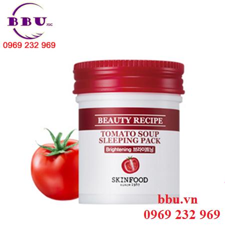 Mặt nạ ngủ dưỡng trắng Skin Food Tomato Soup Sleeping Pack - Chiết xuất cà chua & sữa