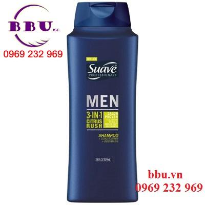 Dầu tắm, gội, xả Suave Men 3 in 1