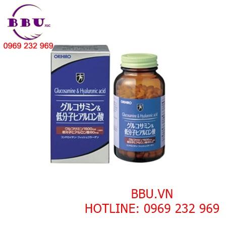 Viên uống bổ khớp chống lão hóa Glucosamine & Hyaluronic acid Nhật Bản