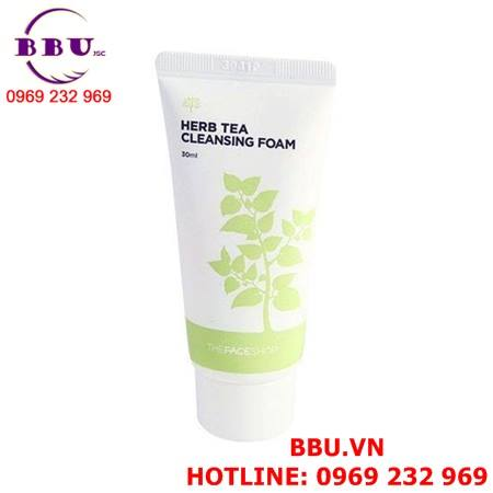 Sữa rửa mặt Herb Tea Cleasing Foam The face shop