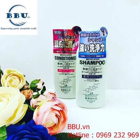 Bộ Dầu gội và xả mọc tóc Kaminomoto Medicated Shampoo