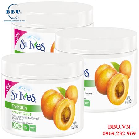 Kem tẩy tế bào chết dạng hũ ST.IVES Fresh Skin Apricot Scrub