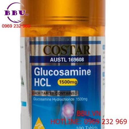 Viên uống bổ khớp của Úc Glucosamine 1500mg Costar 100 viên mới