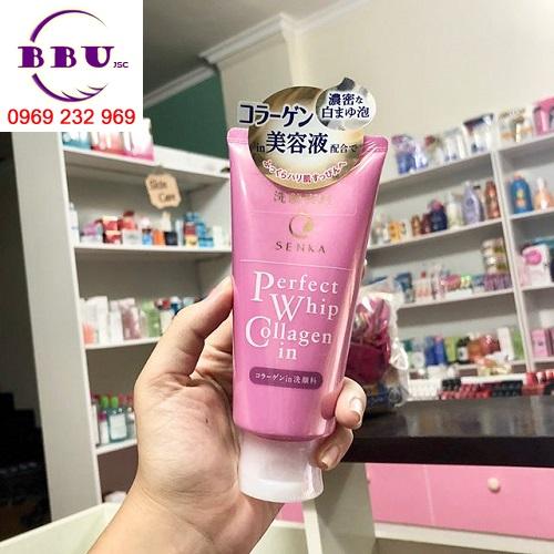 Sữa rửa mặt Shiseido Senka Perfect Whip Collagen