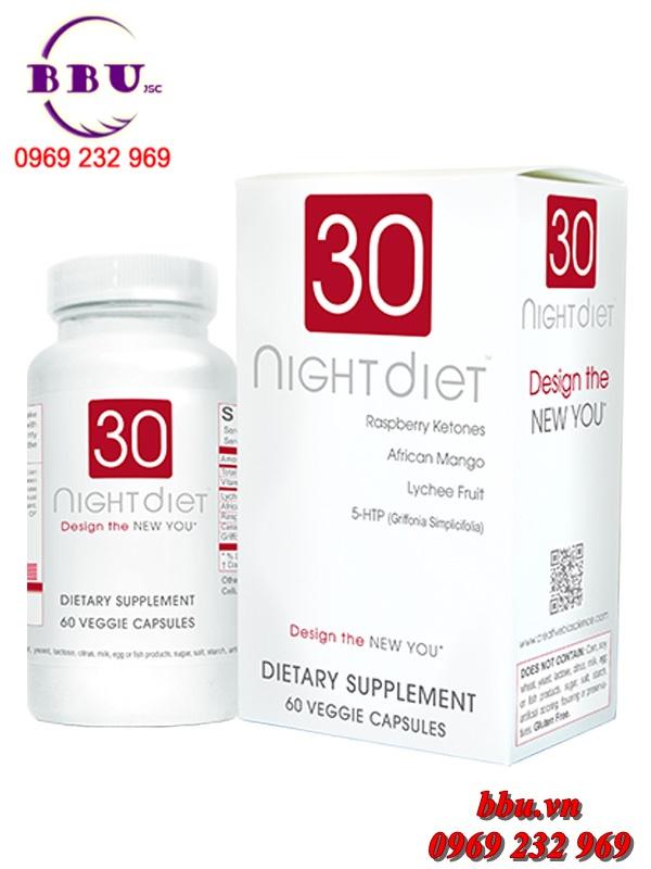 Thuốc uống giảm cân 30 night diet 60 viên của Mỹ