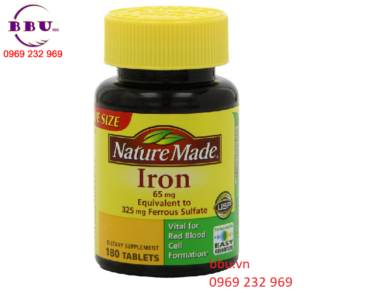 bổ sung chất sắt với Nature made iron