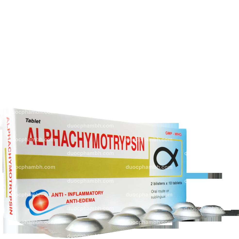 Thuốc tây ALPHACHYMOTRYPSIN ALU