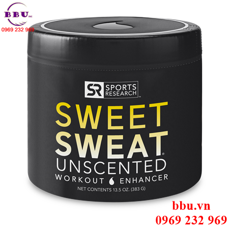 Gel thoa tan mỡ Sweet Sweat Unscented XL Jar (383 g/ 13.5 oz)