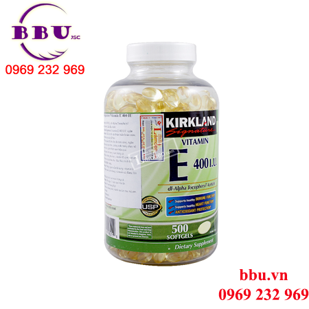 Kirkland-Vitamin E 400 IU 500 Viên