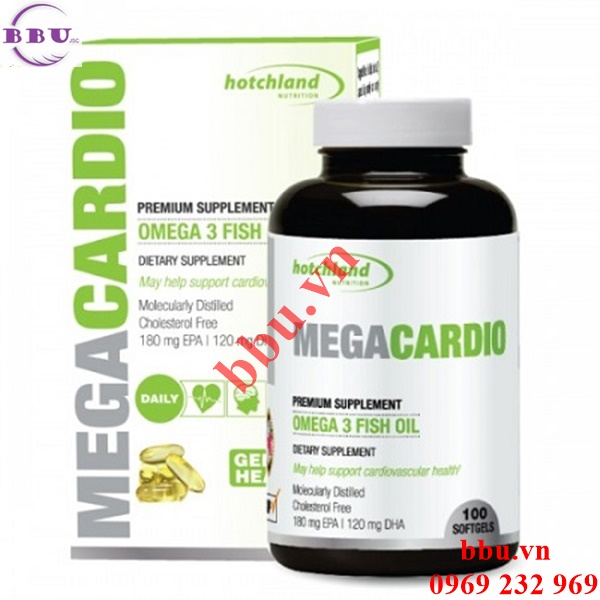 MegaCardio omega 3 dầu cá bổ mắt, bảo vệ hệ tim mạch