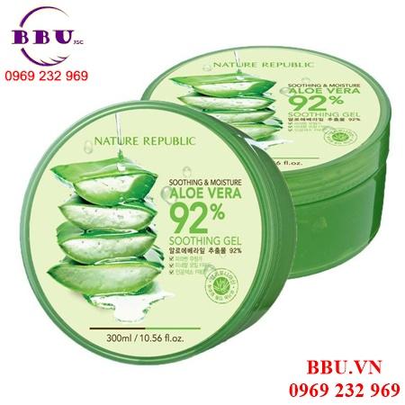 Gel lô hội đa năng Nature Republic Soothing & Moisture Aloe Vera 92% Soothing Gel