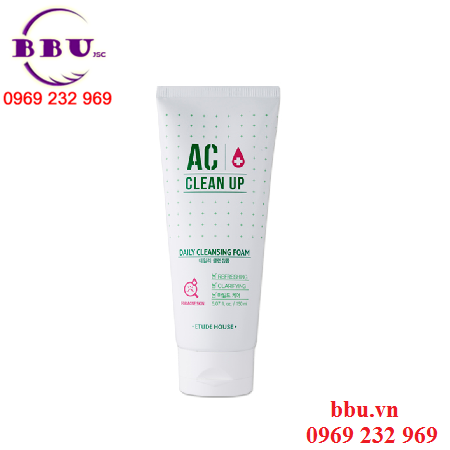 Sữa Rửa Mặt Trị Mụn AC Clean Up Daily Acne Cleansing Foam