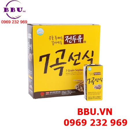 Sữa đậu nành 7 vị ngũ cốc Hanmi Hàn Quốc thùng 16 hộp