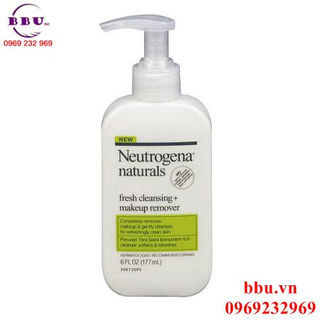 Sữa rửa mặt Neutrogena Naturals Fresh Cleansing Makeup Remover