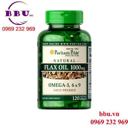 Thuốc bổ tim Natural Flax Oil 1000 mg