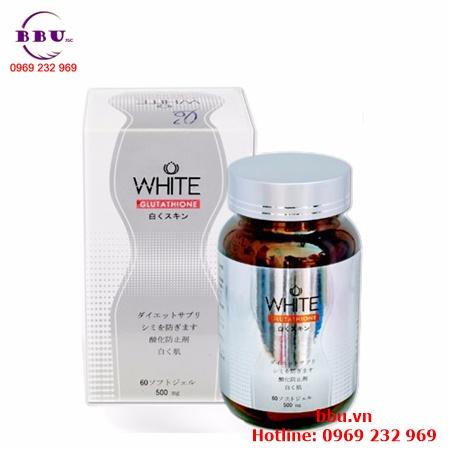 Viên uống trắng da, trị nám White Glutathione 500mg 60 viên của Nhật Bản