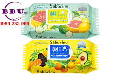 Mặt nạ giấy bcl saborino morning face mask 3 in 1