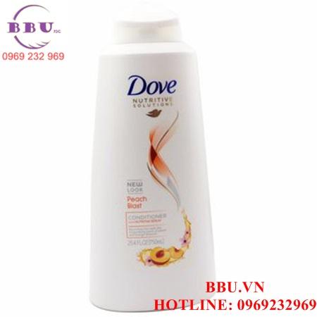Bộ dầu gội và xả của Mỹ Dove Peach Blast Conditioner Hương Đào loại 750ml