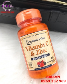 Viên Vitamin C Zinc Puritan Pride