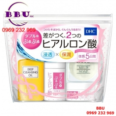 set dưỡng da mini dhc double moisture