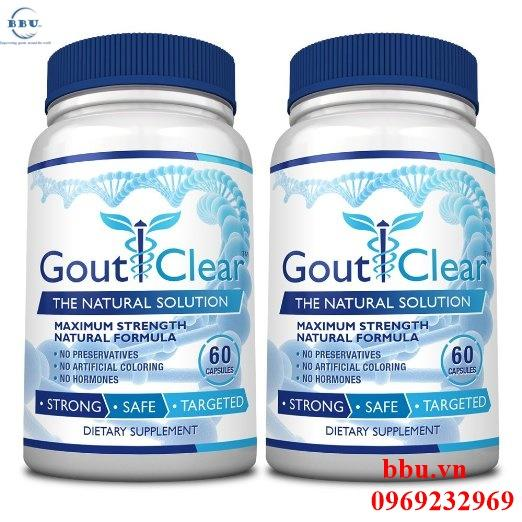 Thuốc điều trị bệnh gout GoutClear, Fast, Effective Solution to Gout 60 viên