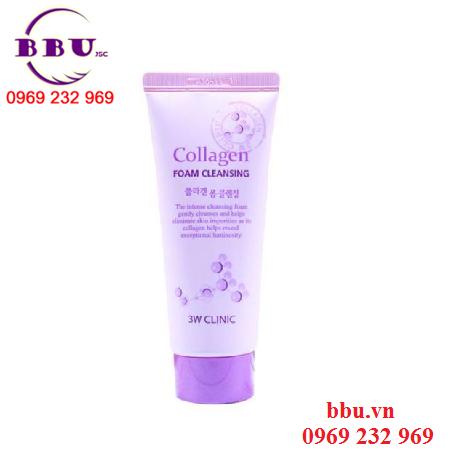 Sữa rửa mặt Collagen 3W Clinic 100ml đầy quyến rũ