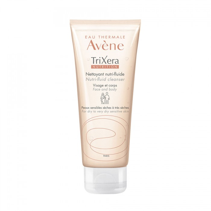 Gel rửa mặt Avène Trixera Nutrition Nutri-Fluid Cleanser