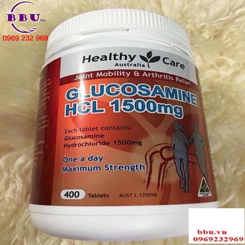 Review Viên Uống Bổ Xương Khớp Healthy Care Glucosamine HCL (1500mg X 400 Viên)