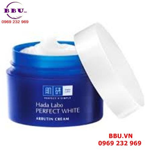 Sản phẩm kem dưỡng trắng da Hada Labo Perfect White Arbutin Cream vừa dưỡng trắng vừa dưỡng ẩm