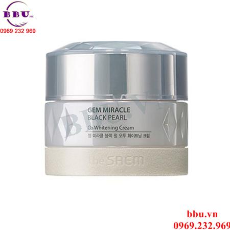 Kem Dưỡng Gem Miracle Black Pearl O2 Whitening Cream