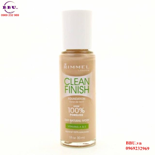 Kem nền Rimmel Clean Finish Matte