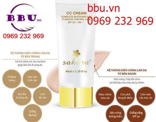 Kem Dưỡng Da Trang Điểm Sakura CC Cream