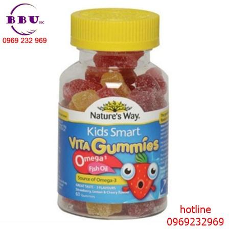 Kids Smart Vita Gummies Omega 3 Fish Oil tăng cường thị lực của Úc 60 viên